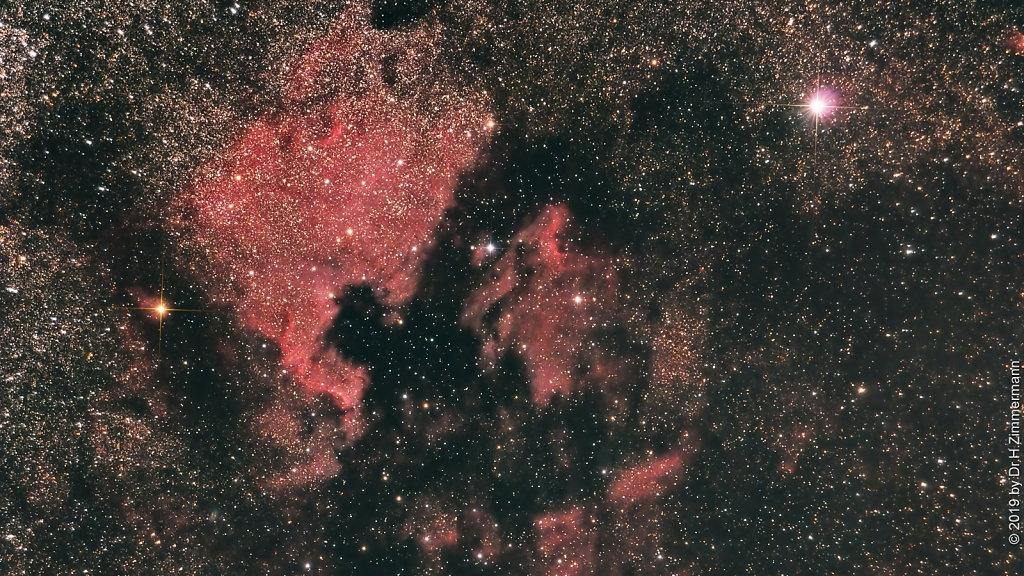 NGC7000 - North America Nebula & Pelican Nebula